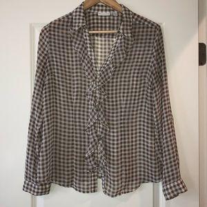 Long sleeve light button up blouse